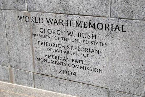 National World War II Memorial: Plaque entrée