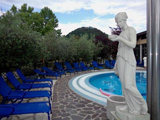 Petrarca Hotel Terme: горячий термальный бассейн с видом на холмы