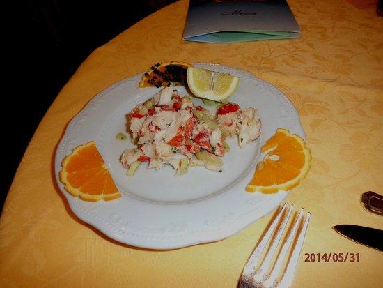 Petrarca Hotel Terme : Комплимент на ужин из омаров