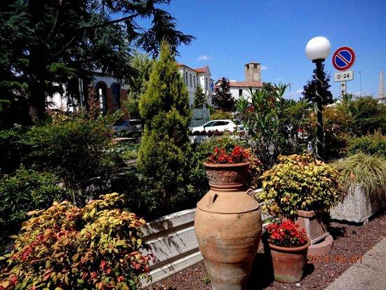 Petrarca Hotel Terme : фрагмент парка отеля