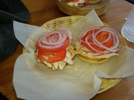 Los Bagels: Turkey bagel!  :)