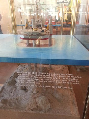 California Oil Museum: A display about oil rigs