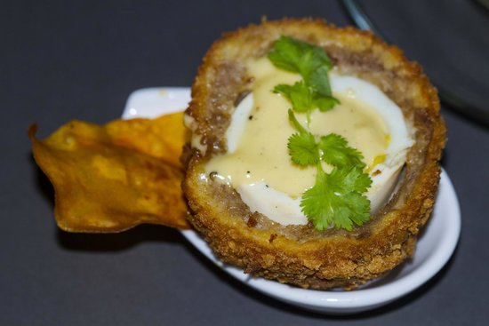 Twisted Thai : Kah hin nin Scotch eggs slow cooked egg yolk I remember I wanted more of these!!