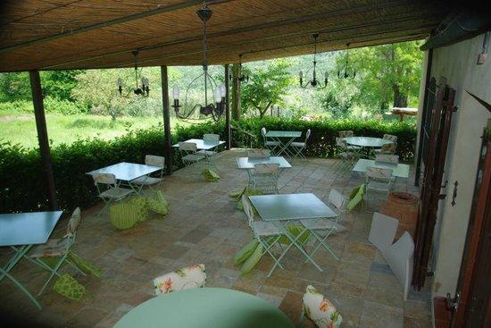 Casolare di Libbiano : Outside dining area