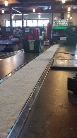 Z Fun Factory: Ice strip running down the length of the bar