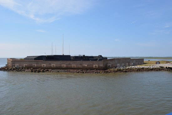 Fort Sumter National Monument: Fort Sumter from the ferry