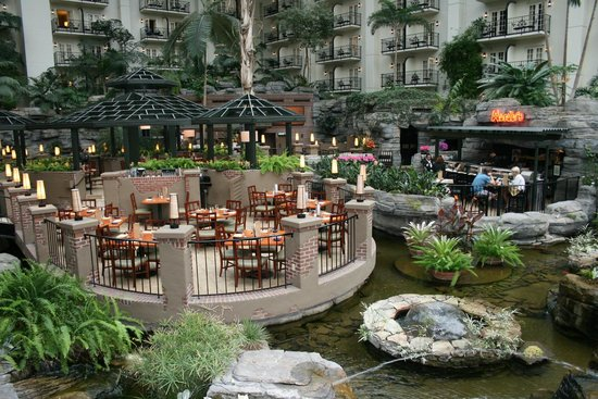 by the bar inside opryland hotel picture of gaylord. Black Bedroom Furniture Sets. Home Design Ideas