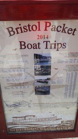 Bristol Ferry Boats: Boat trip price list