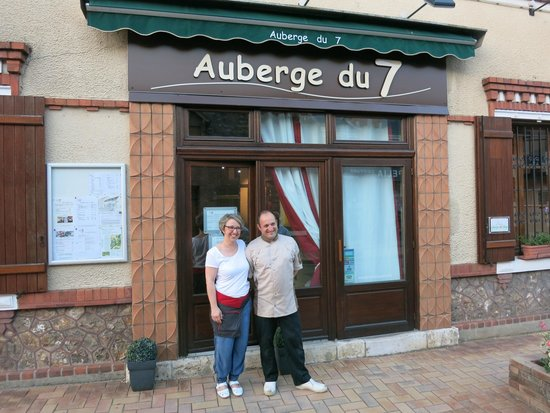 Auberge du 7: Pascal the Chef and his lovely wife Claude-Helene the hostess