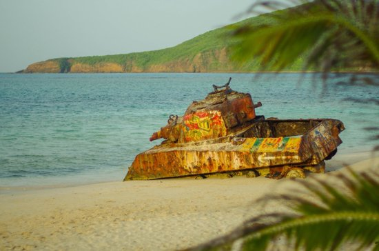 Playa Flamenco: Tank on flamenco