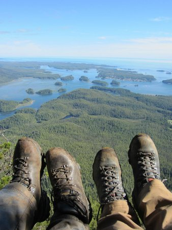 view of tofino from the top picture of lone cone hike. Black Bedroom Furniture Sets. Home Design Ideas