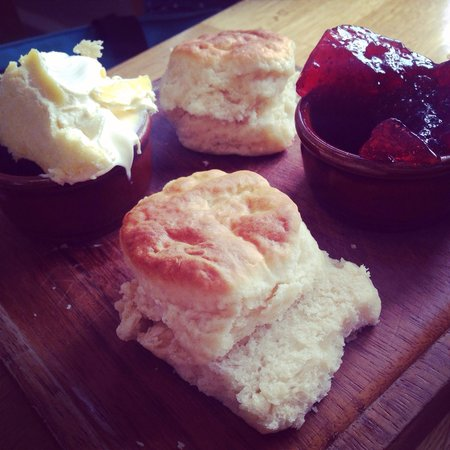 The Cook House St Ives: The tastiest scones I have ever had. Scones were soft and not crumbly like most I have come acro