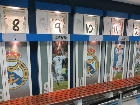 Estadio Santiago Bernabéu: Kleedkamer