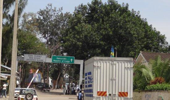 Lake Kivu Serena Hotel: border crossing from Rwanda to Congo