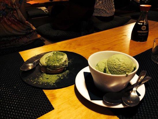 The Tatami Room: Dont forget to taste green tea tiramisu and ice cream :)