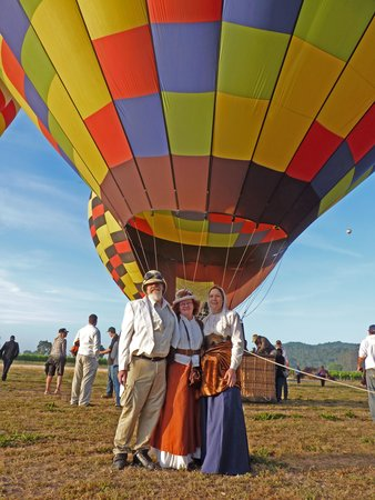 Balloons Above the Valley : We loved the vintage experience of being in costume.