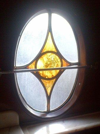 Belmond British Pullman: Lavatory Window of Pullman Car 'Cygnus'