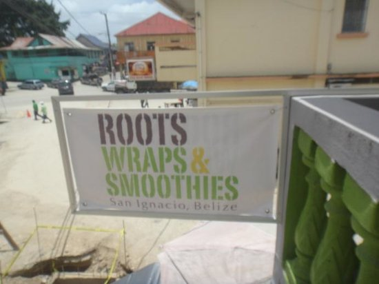 Roots Wraps & Smoothies: Sign