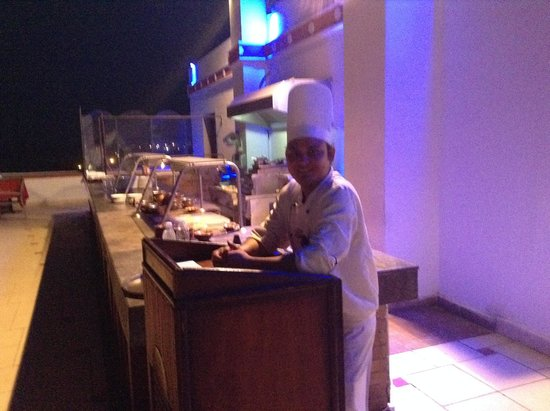 SunConnect Sunrise Diamond Resort: Surendra, Chef at Indian Restaurant