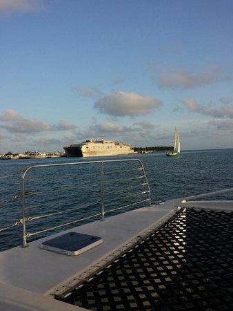 Blu Q Catamaran : View from Blu Q before Sunset