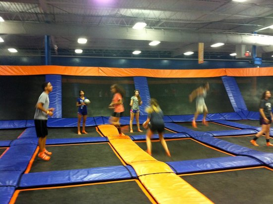 Sky Zone: Private dodge ball area for birthday parties