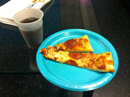 Sky Zone: Soda and pizza are part of the birthday package.