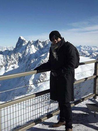 Mont Blanc : No alto da montanha um visual unico.