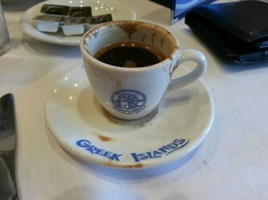 "Greek Islands Restaurant West: Greek coffee ""metrios"""