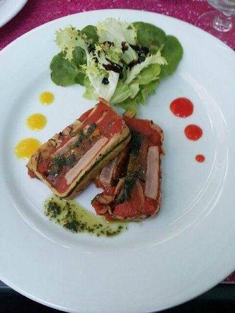 Aux Saveurs de Marsilly : terrine de thon aux légumes grillés