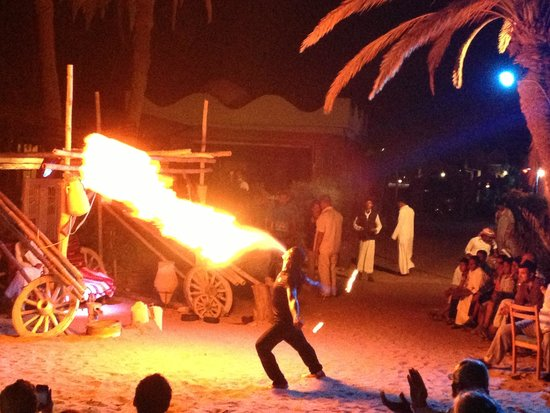Habiba Beach Lodge: Flaming wedding entertainment!