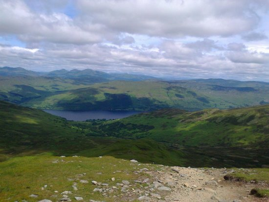 The Achray House Hotel and Lodges: Looking down on Loch Earn from Ben Vorlich