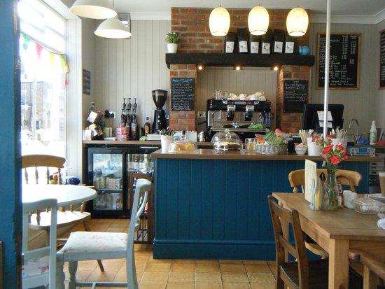 Gingerbread Coffee & Tea Room: Cafe counter.