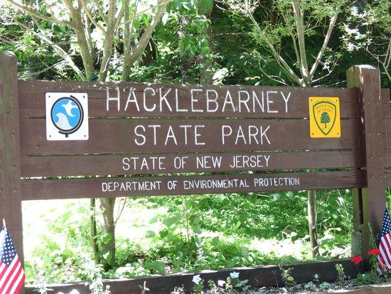 Hacklebarney State Park: Park Sign