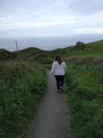 Bosayne Guest House: Hiking the Coastal Path, a few hundred yards from the B&B