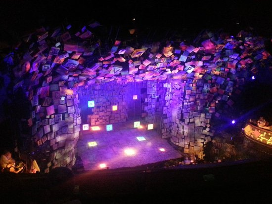 Matilda the Musical : Stage set- taken before the show started!