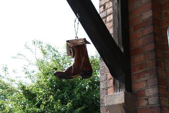 Riley's Railhouse: Railman's lost boot.
