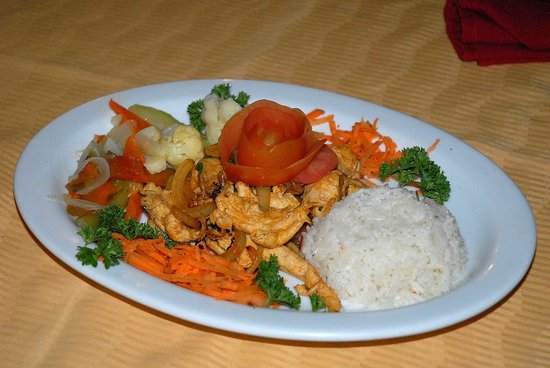 Hotel El Velero: Dinner plate