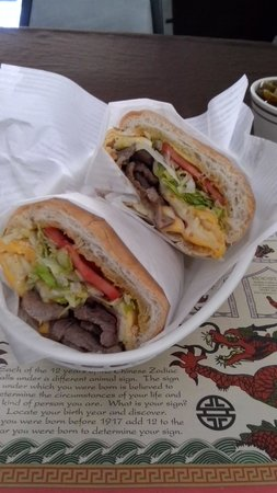 Laihoo's Cafe de China: Tortuga Cubana (Steak, Ham, Egg, Cheese, Lettuce, Tomato and Avocado)