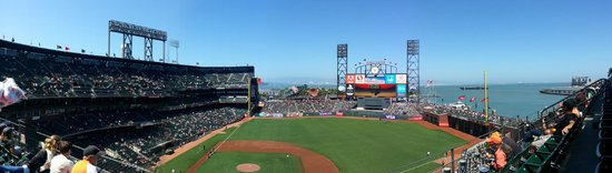 AT&T Park : Panoramic view of the park