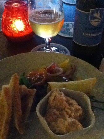 The Bridge Bar: Salmon Pate and local northwest beer