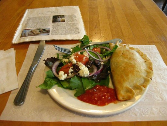 Rainbow Sweets : Empanada, salad, and magazine