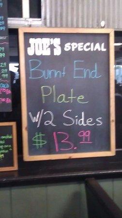 Joe's Kansas City Bar-B-Que : No explanation needed.