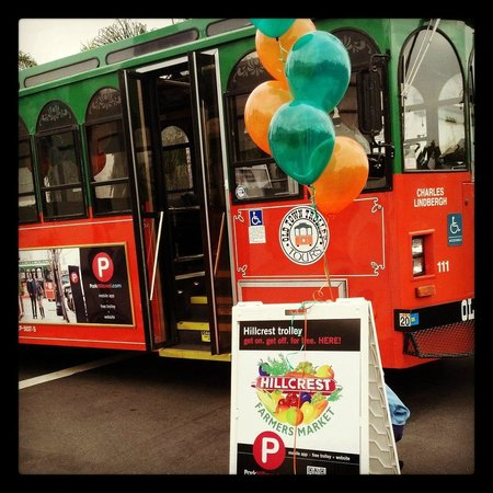 Hillcrest Farmers Market: Ride the Free Hillcrest Trolley #ParkHillcrest