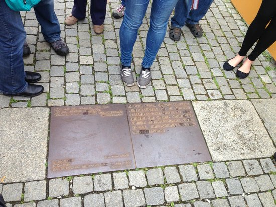 Original Berlin Walks: the plaque at the site of the book burnings