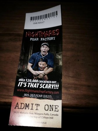 Nightmares Fear Factory: Ticket to enter