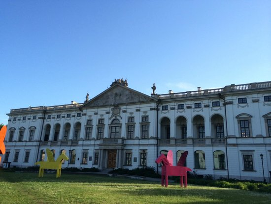 Monument to the Warsaw Uprising Fighters: palais krasinski