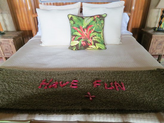 Namale Resort & Spa: One of the daily messages