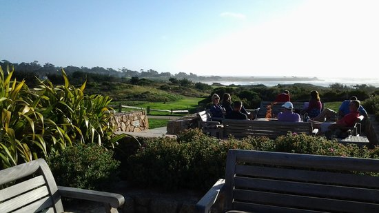 Roy's at Pebble Beach: view from the firepits