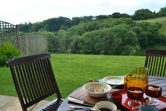 Highway Farm: View at the breakfast terrace