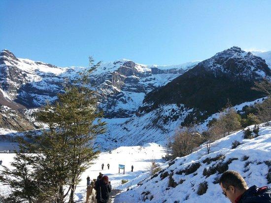 Cerro Tronador: Descida para neve